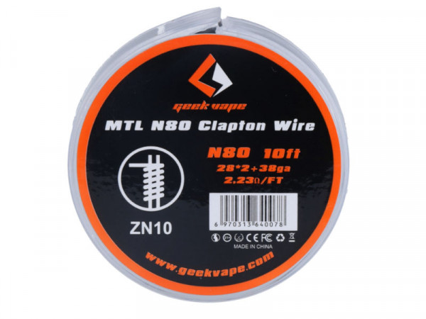 Geekvape MTL N80 Clapton Wickeldraht 3m