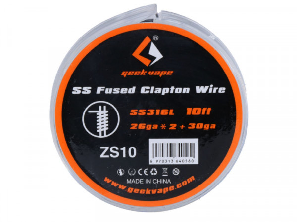 GeekVape Geekvape SS Fused Clapton - 3 m Rolle